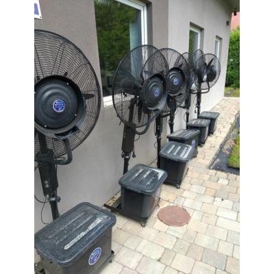 Párásító teraszhűtő ventilátor (használt) Összeszereltek, így ezek csak személyesen vehetők át.